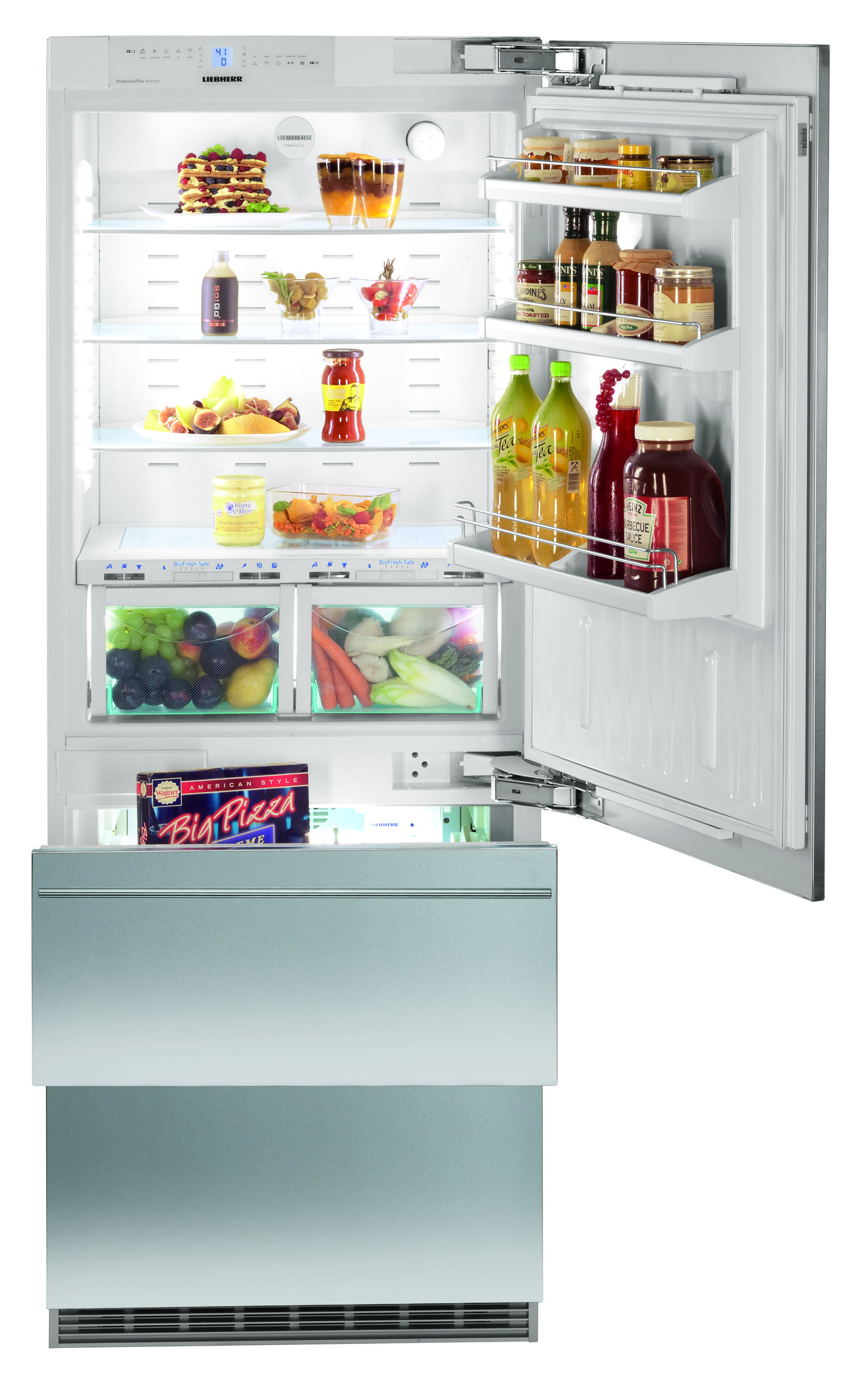"HCB 1560 and HC 1540 fully integrated 30"" single door refrigerator-freezer combination"