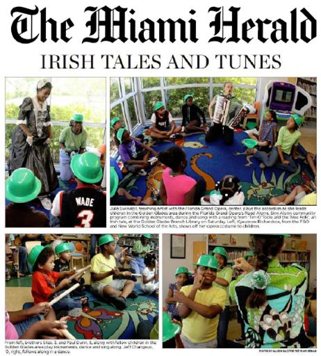 Miami Herald article about the 2011-2012 Read Along, Sing a Song program.