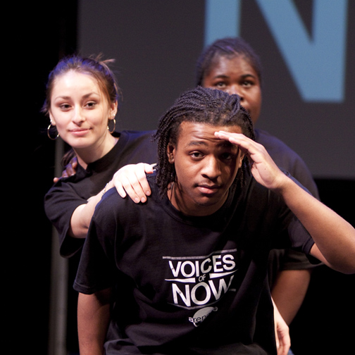 A performance during the 2011 Voices of Now festival at Arena Stage. Photo by Scott Suchman.