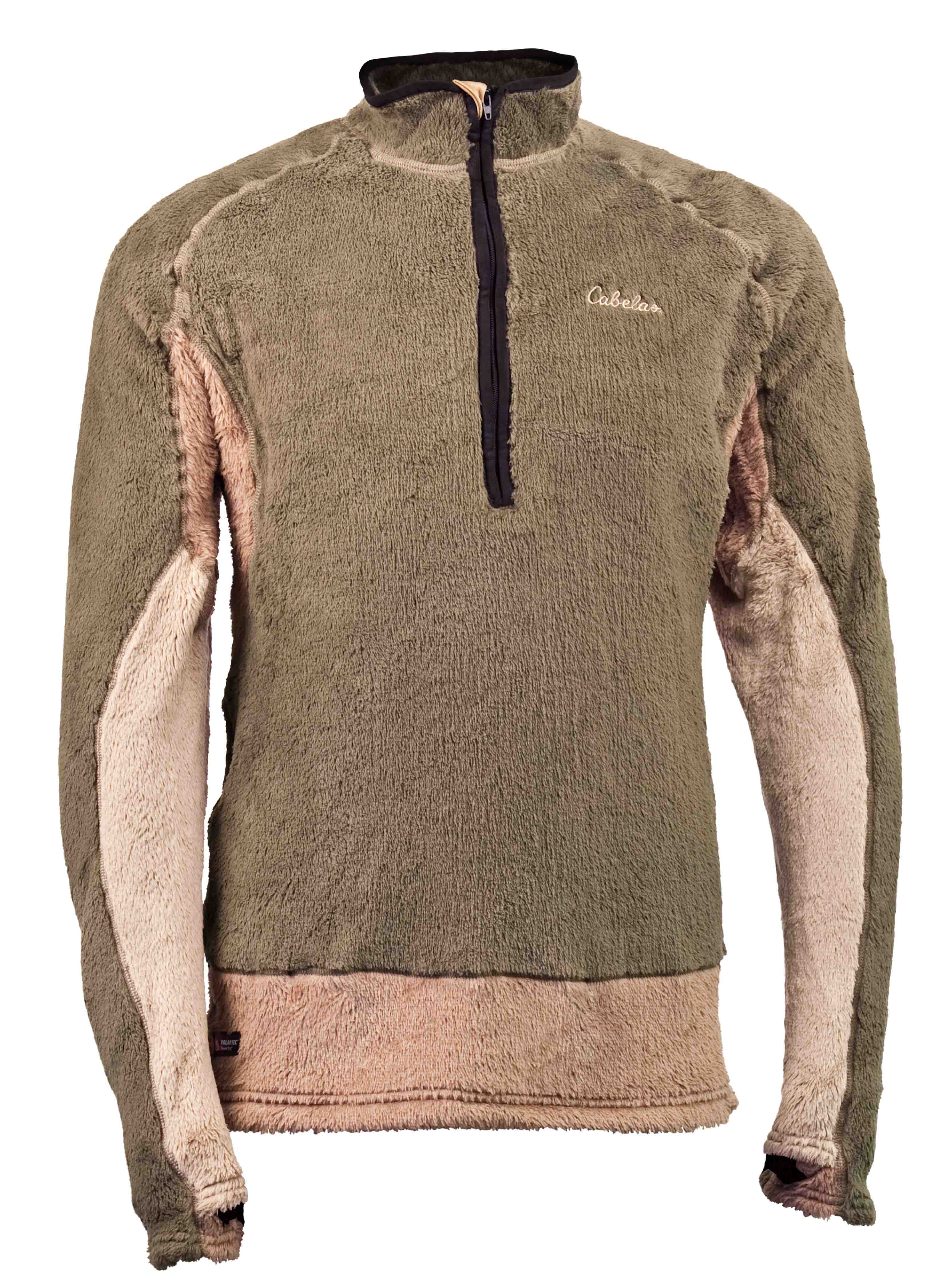 Cabela's Thermal Zone Stand Hunter Baselayer - Cabela's studied body thermography and employed three different weights of Polartecr Thermal Pror High Loft to create its warmest baselayer ever - providing the ultimate in heat retention and comfort for treestand hunters. The highly breathable, compressible, and quick-drying Polartecr Thermal Pror High Loft fleece fabrics, all treated with Polartecr Odor Resistant Technology (with Polygiener) to neutralize odor-causing bacteria, are the most technically advanced of the Polartecr insulation fabrics, providing warmth without weight and achieving the utmost versatility and performance under extreme conditions.