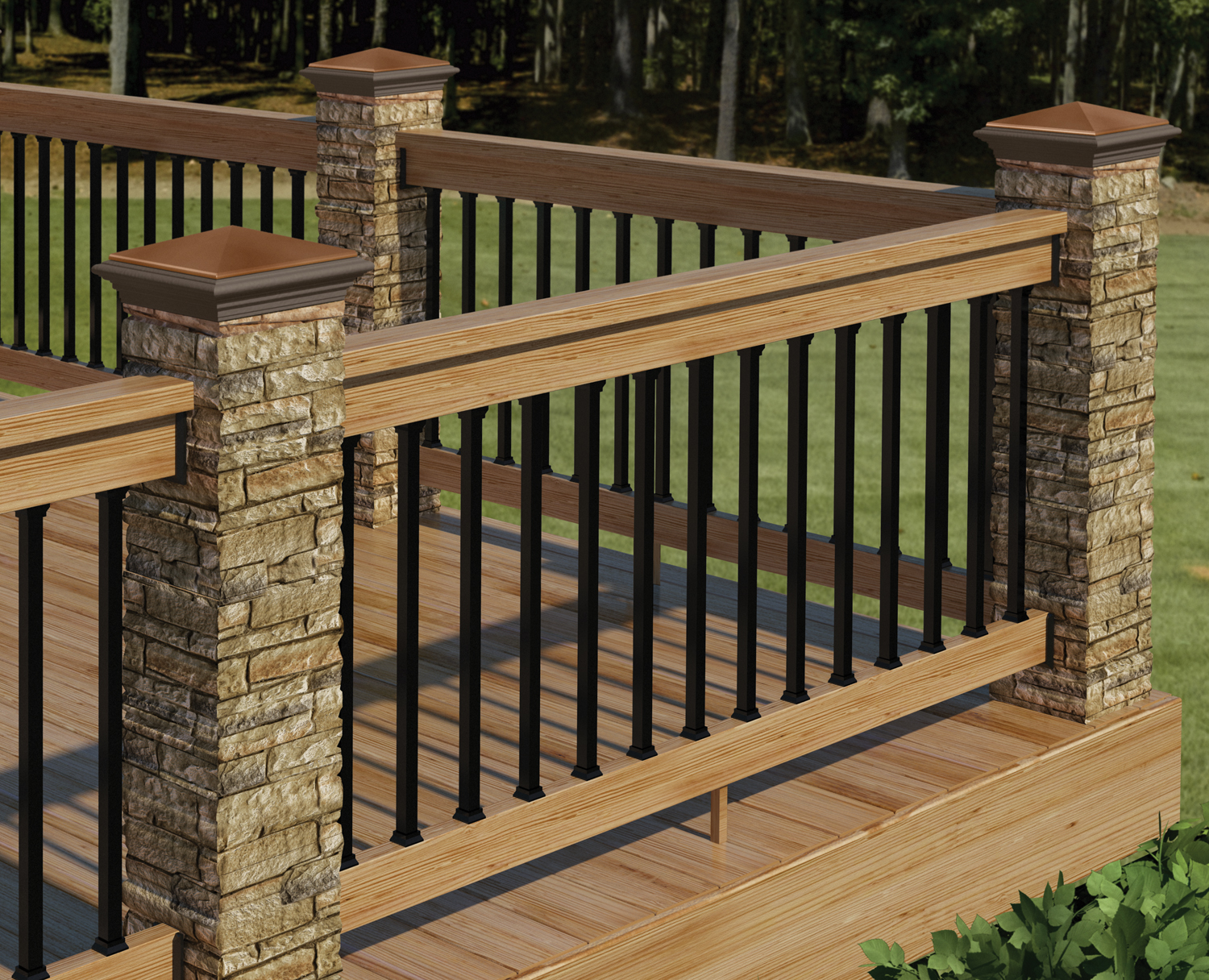Redesigned deckorators postcover has look and feel of real for Balcony handrail