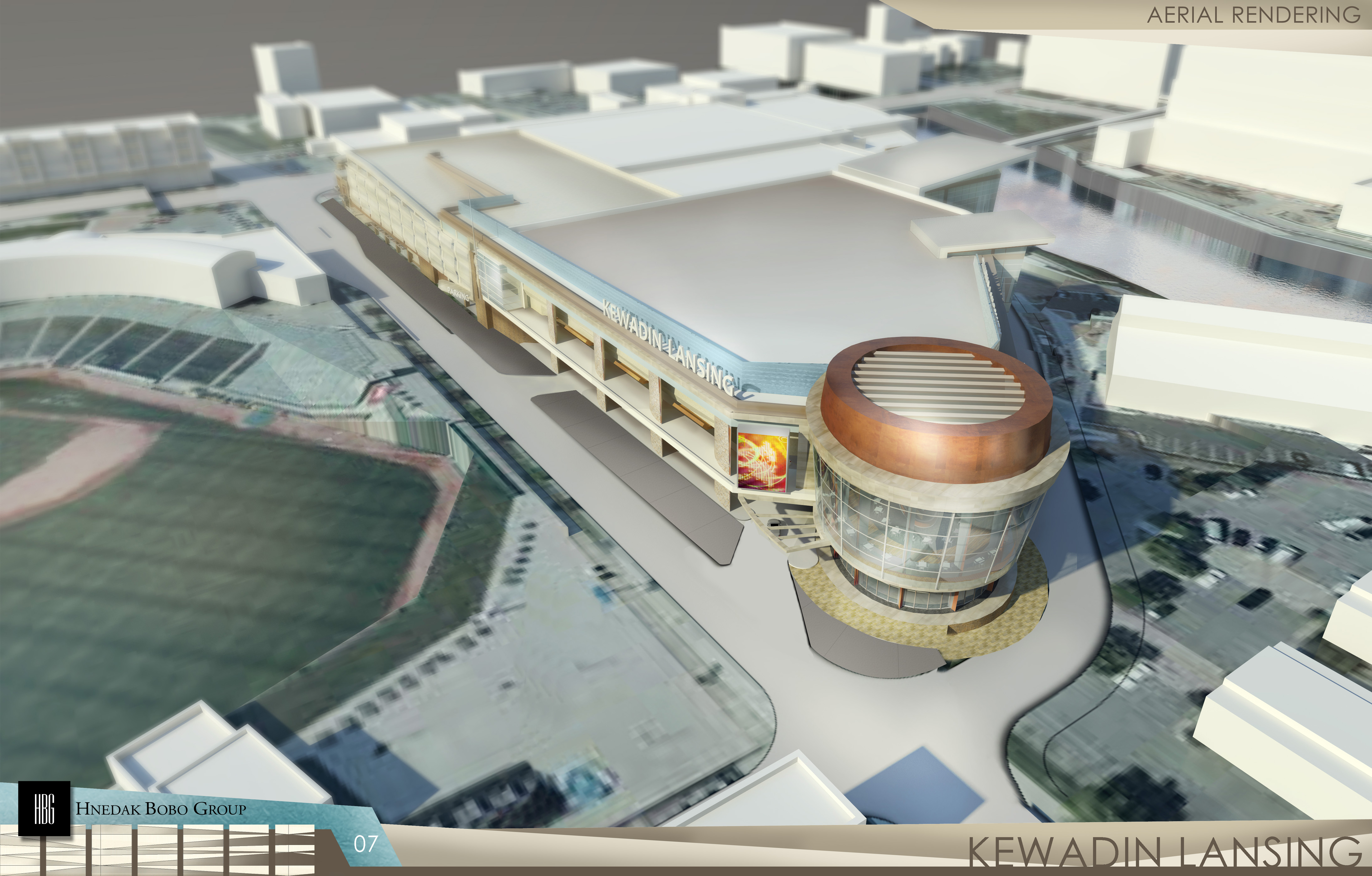 "A rendering of the Lansing Kewadin Casino, which will fund ""Lansing Promise"" scholarships for residents of the school district."