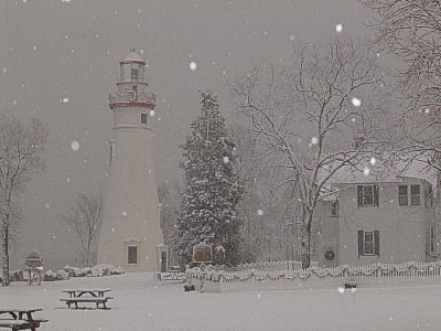 Winter at the Marblehead Lighthouse