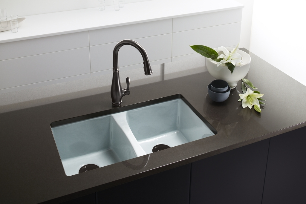 KOHLER Deerfield Enameled Cast Iron Kitchen Sink