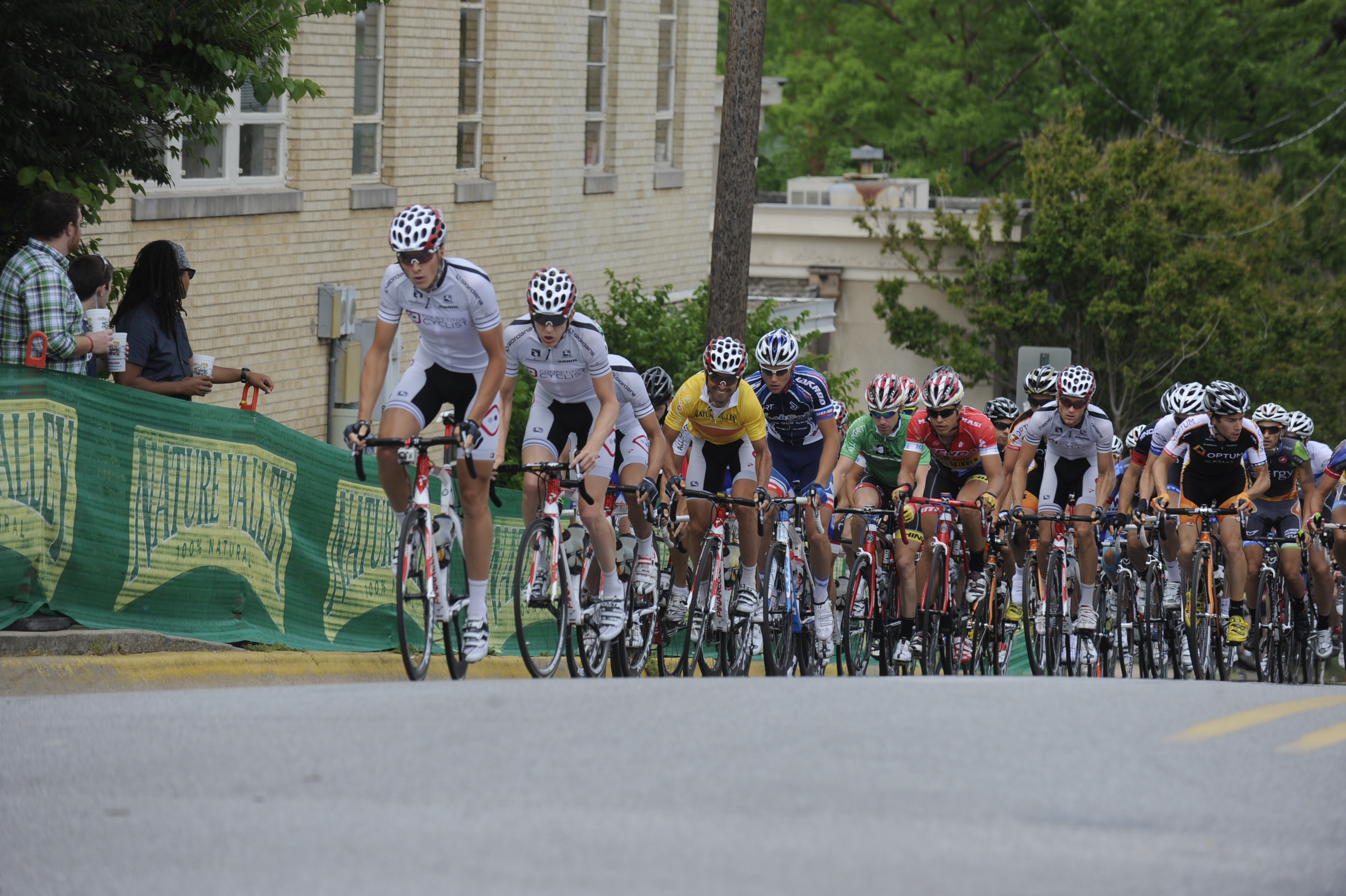 Perfect team form shown by the Competitive Cyclist Racing Team during the Joe Martin Stage Race.