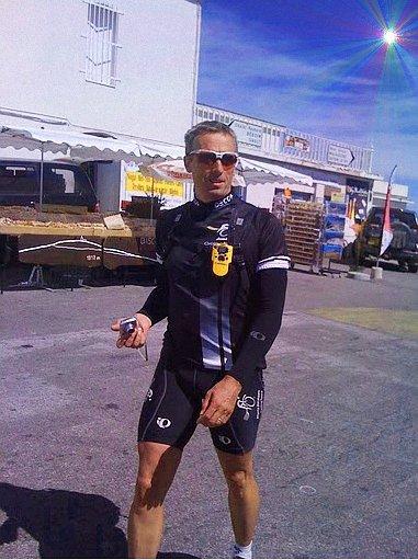 Jemison Cycling Tours: Marty leading a trip on Mont Ventoux, southern France.
