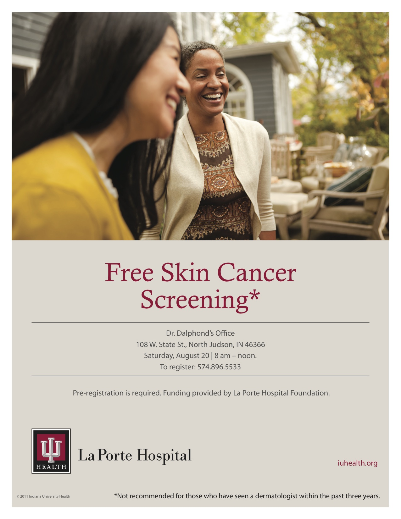 Iu health la porte hospital screenings for Iu laporte hospital