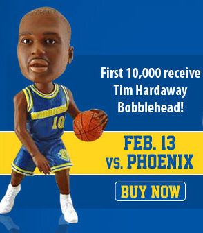 Tim Hardaway Bobblehead Night, presented by Esurance, is Monday, February 13.