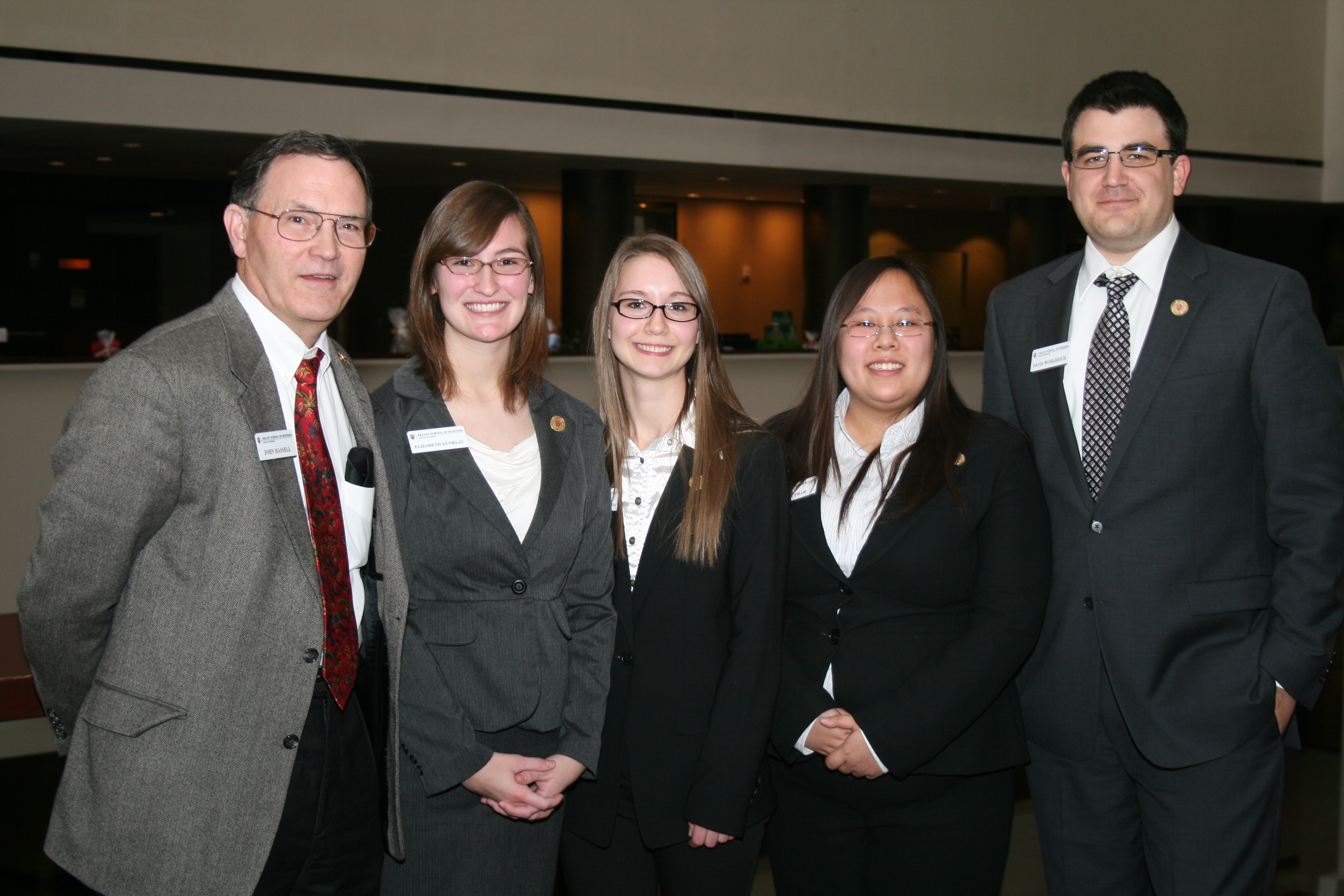 The second place team from Indiana University-Purdue University Indianapolis consisted of Elizabeth Dunklau, Daisy Pham, Ekaterina Pronina and David Wohlreich. The faculty advisor was John Hassell.