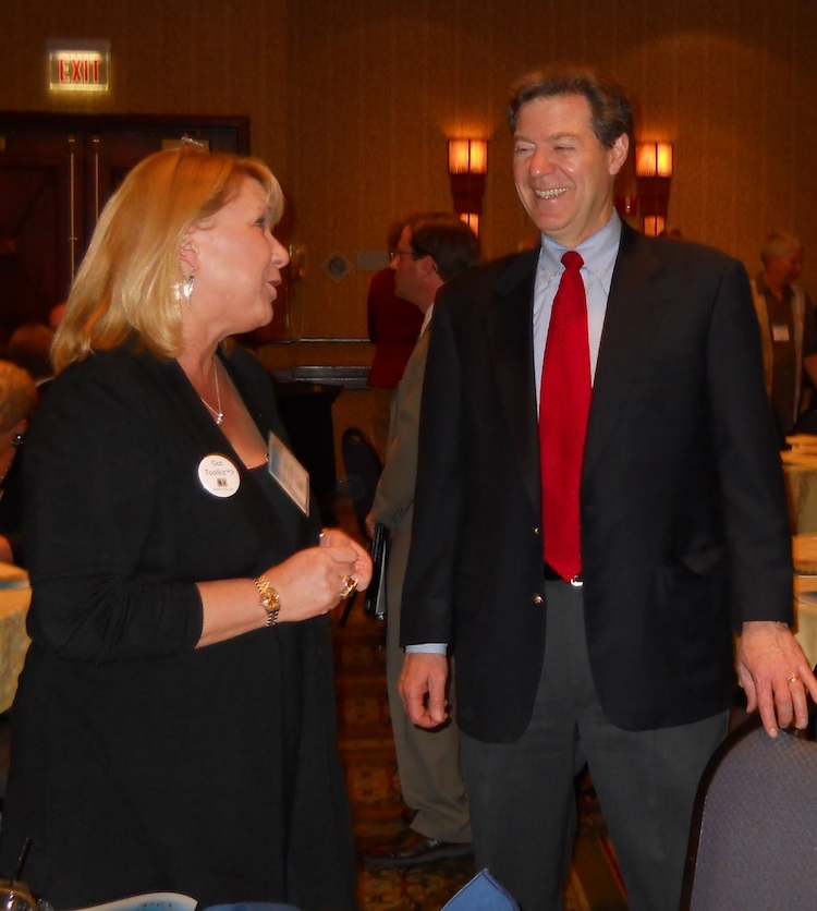 Belinda Waggoner and Governor Brownback discuss the business climate in Kansas
