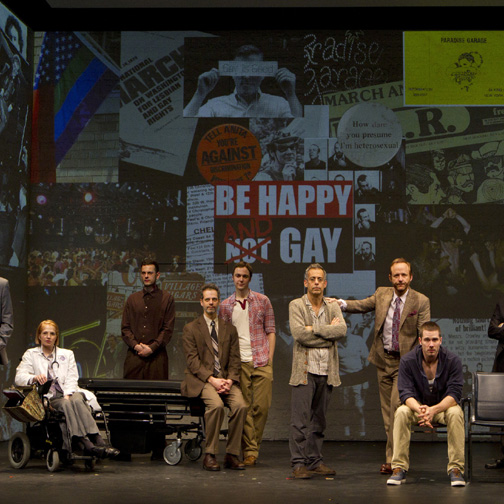 The cast of the 2011 Broadway production of THE NORMAL HEART. Photo by Joan Marcus.