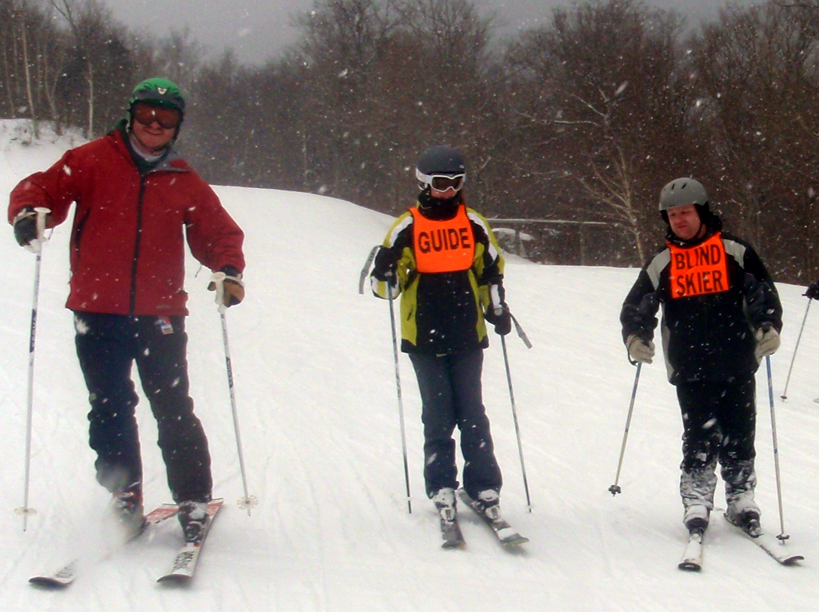 Carroll Center For The Blind students skiing with AbilityPLUS