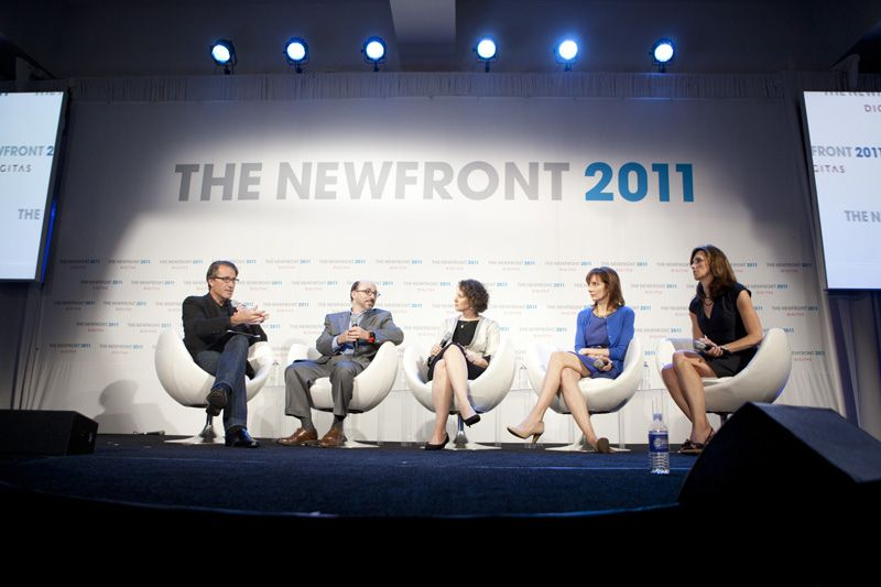 "The 2011 ""Brands as Publishers"" panel, featuring American Express, Federated Media, SAP, and more."