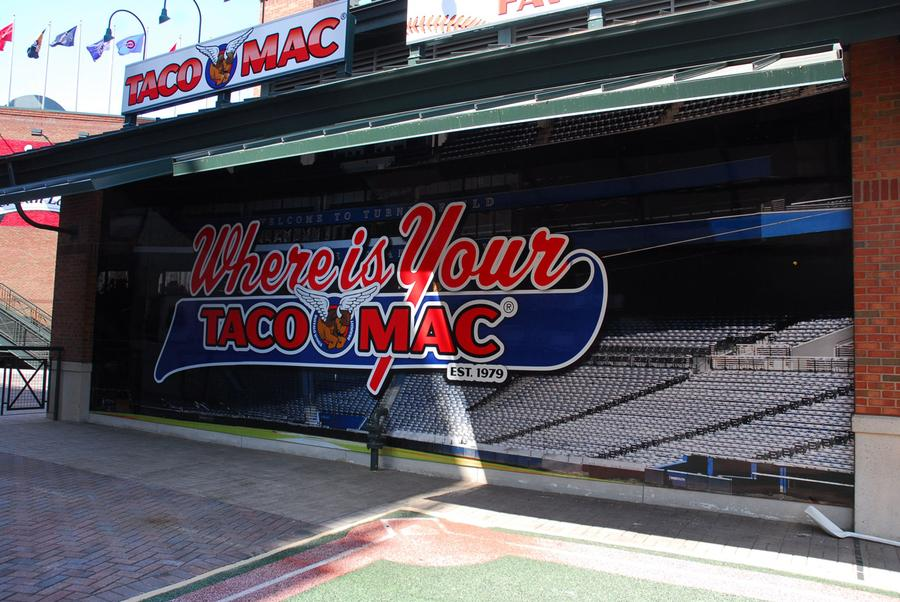 "The Atlanta Braves' home opener, this Friday, April 13  will mark the debut of the Taco Mac Family Zone, which replaces Cartoon Network's ""Tooner Field."""