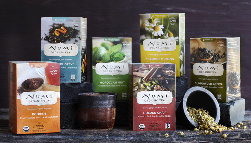 Tea Boxes from Numi Organic Tea