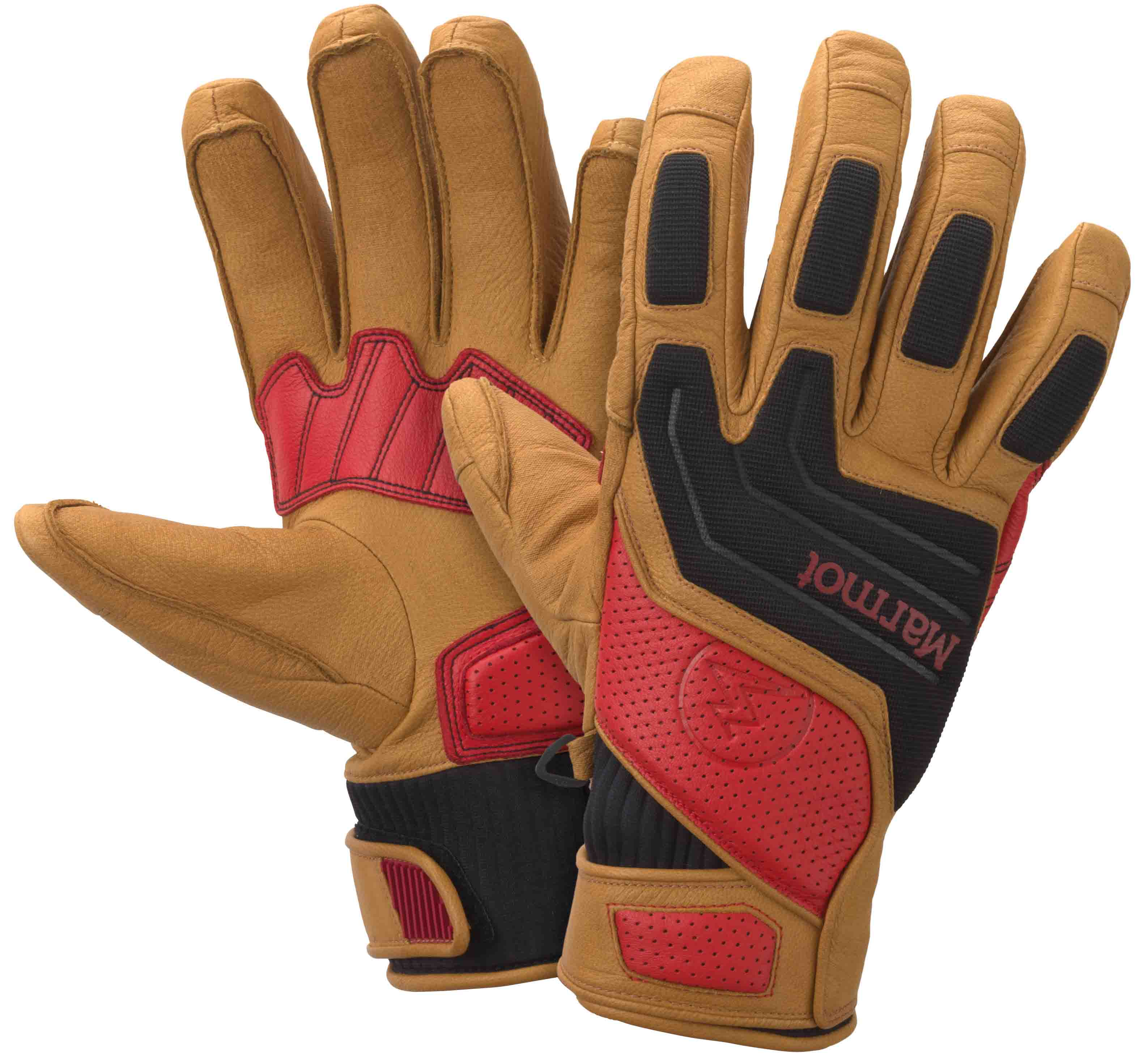 "Marmot Armageddon Glove - The Marmot Armageddon Glove uses a new application of Polartecr Thermal Pror, the latest evolution of synthetic insulation offering a rare combination of lightweight warmth and true breathability. Because Polartecr Thermal Pror insulation is highly durable and more stable than other synthetic insulation products, an open-construction interior fabric was selected to create an air-permeable package. This small amount of airflow rapidly draws moisture away from the hands and allows Polartecr Thermal Pror to be worn in a wider range of activities compared to classic ""vapor barrier"" style insulation."