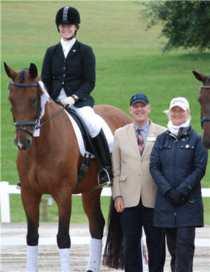 Lifelong horsewoman: Randi Heathman, founder Equestrian College Advisor. Pictured here, on her gelding, Ricochet, at the 2010 USDF Region 2 Championships in Traverse City, Michigan.