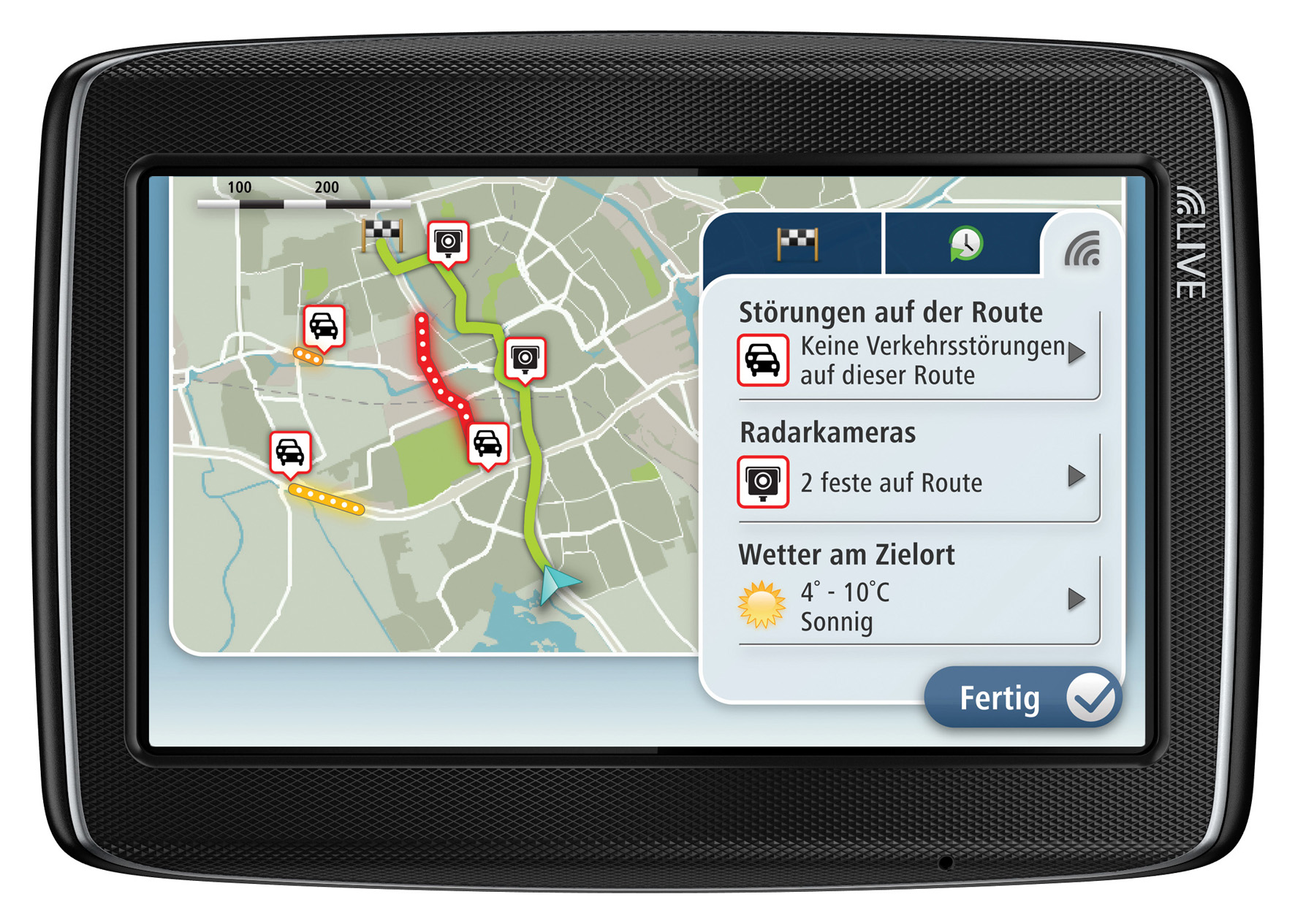 TomTom HD Traffic und die TomTom Search &amp; Go Services sind auch auf dem TomTom GO LIVE 820 erh&#228;ltlich.