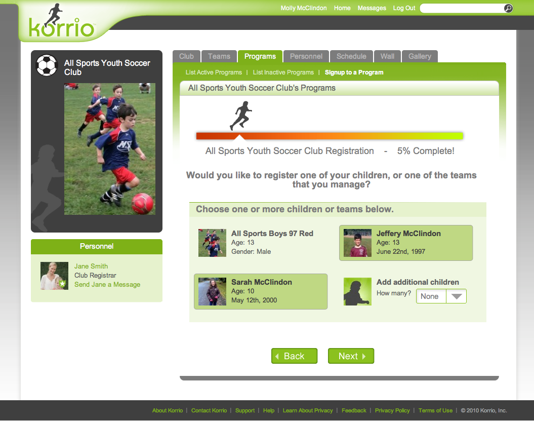 Korrio Registration Page
