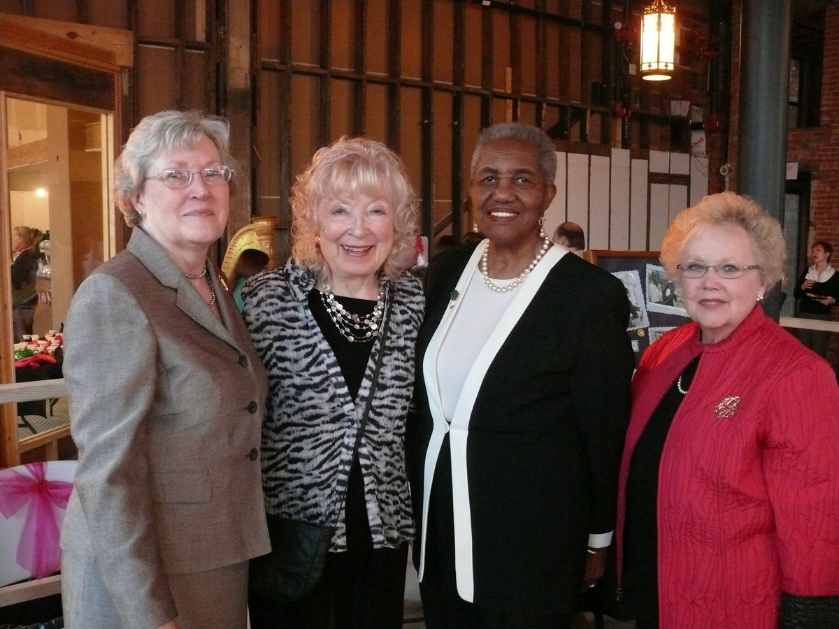 L-R: Board Chair Joan Singleton, Charlene Spears, Honorary Chairs Bettye Williams and Betty Dalrymple