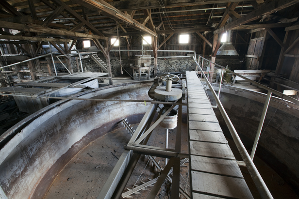 The interior of the Carissa Mill.