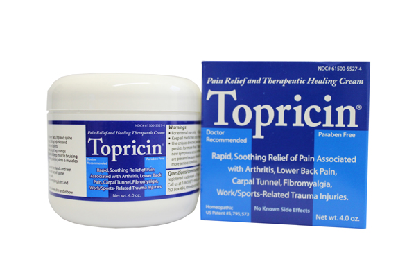 Topricin is patented for the treatment of pain associated with fibromyalgia and is specifically formulated for pain relief that works at the molecular level to help the body heal the damage that is causing the pain.