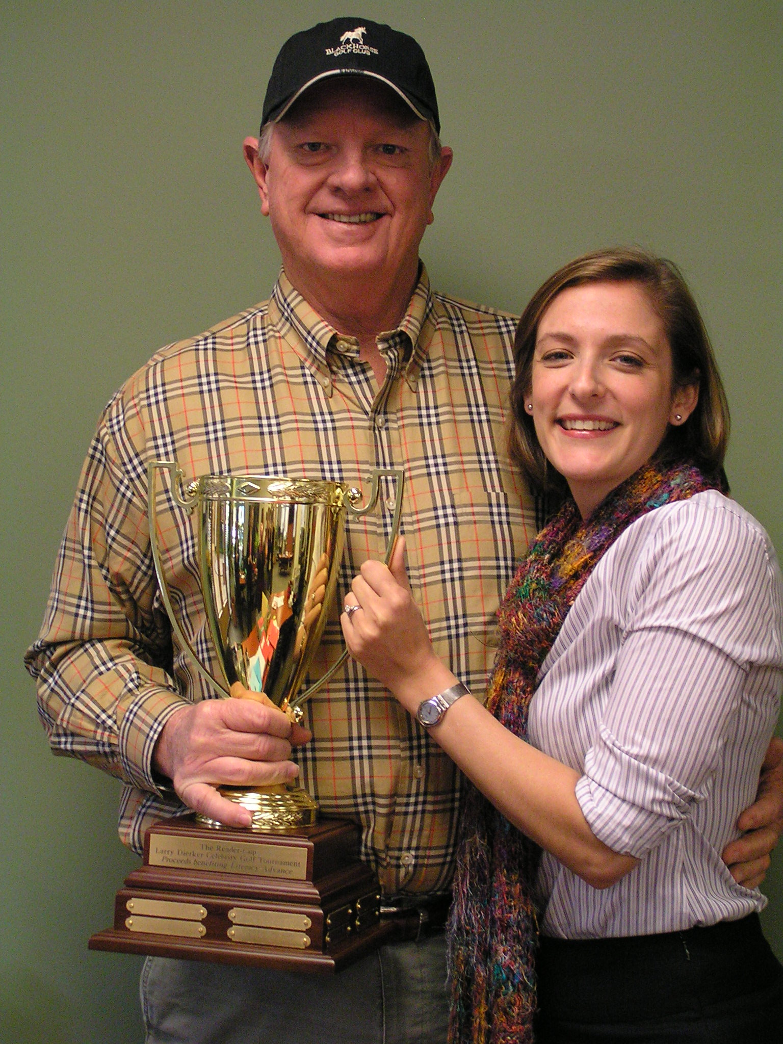 Larry Dierker, former Astros pitcher and host of the Reader Cup with Melanie Fisk, Executive Director, Literacy Advance Houston.