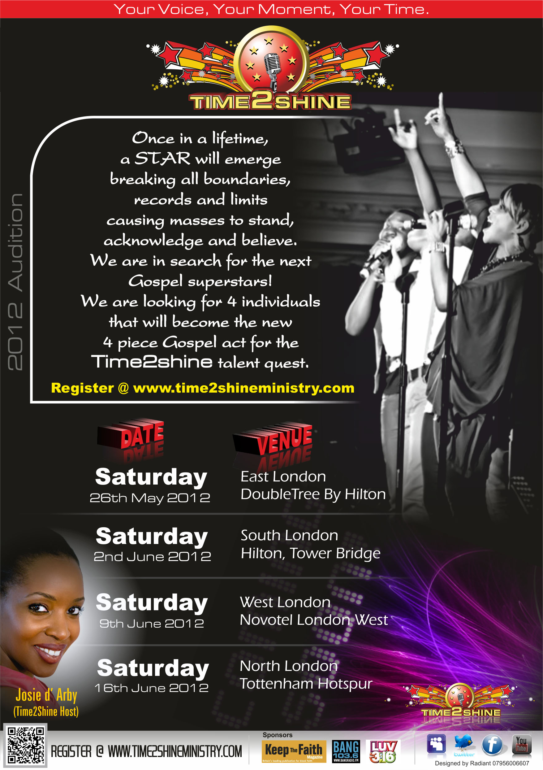 Time2Shine Flyer (back)