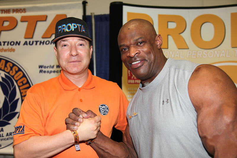 Arturo Sanchez & Ronnie Coleman at 2012 Los Angeles Fitness Expo.