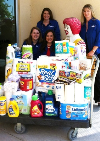 Donations from our corporate staff!