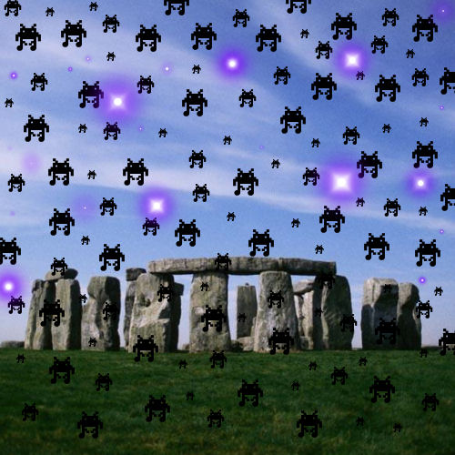 Alien Robots appear over Stonehenge