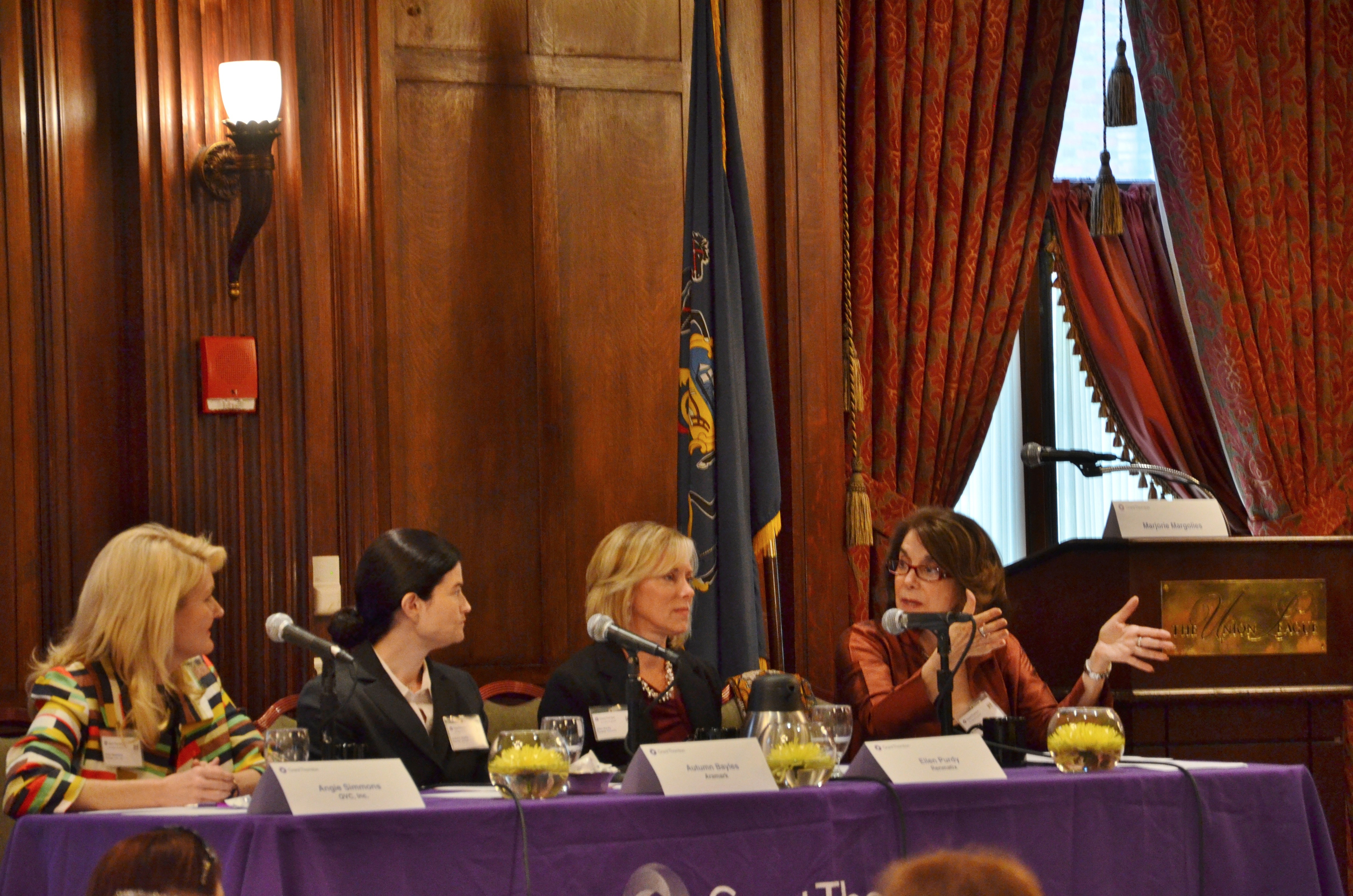 Another shot of the panelists at this year's Women@Grant Thornton 8th annual women's leadership breakfast.