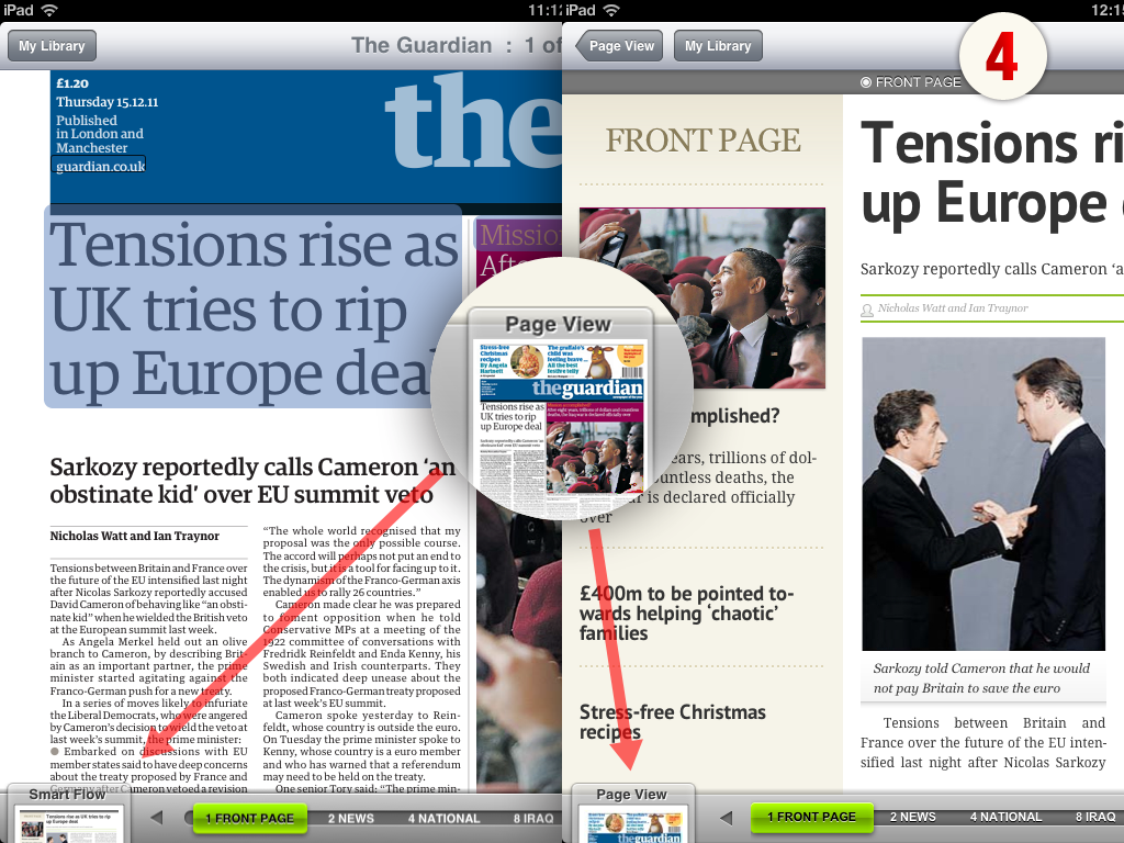 It's easy to switch between SmartFlow and classic replica views - enjoy your paper either way.