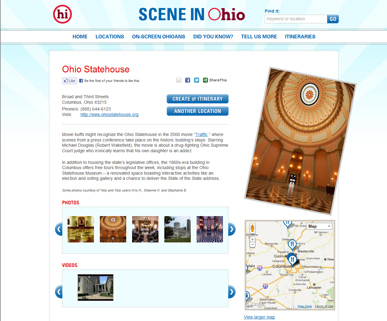 Scene in Ohio Sample Location Page