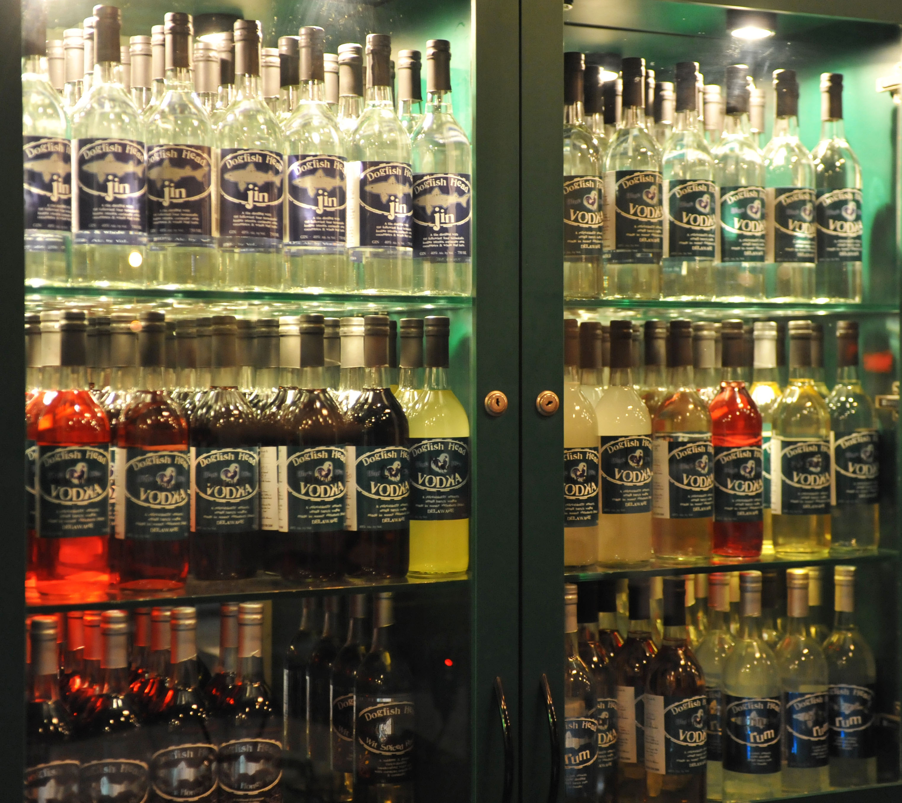 Dogfish has distilled small batches of gin, vodka and rum since 2002.