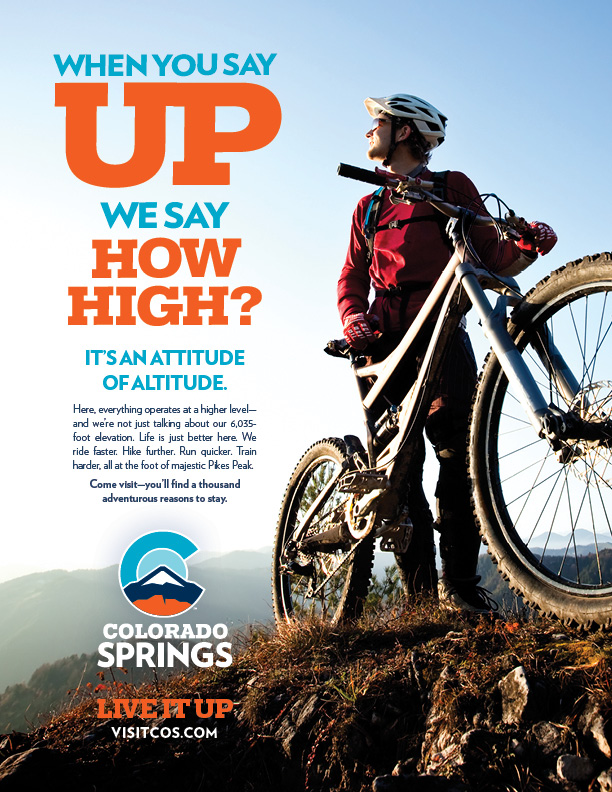 Sample Print Ad with New Colorado Springs Logo