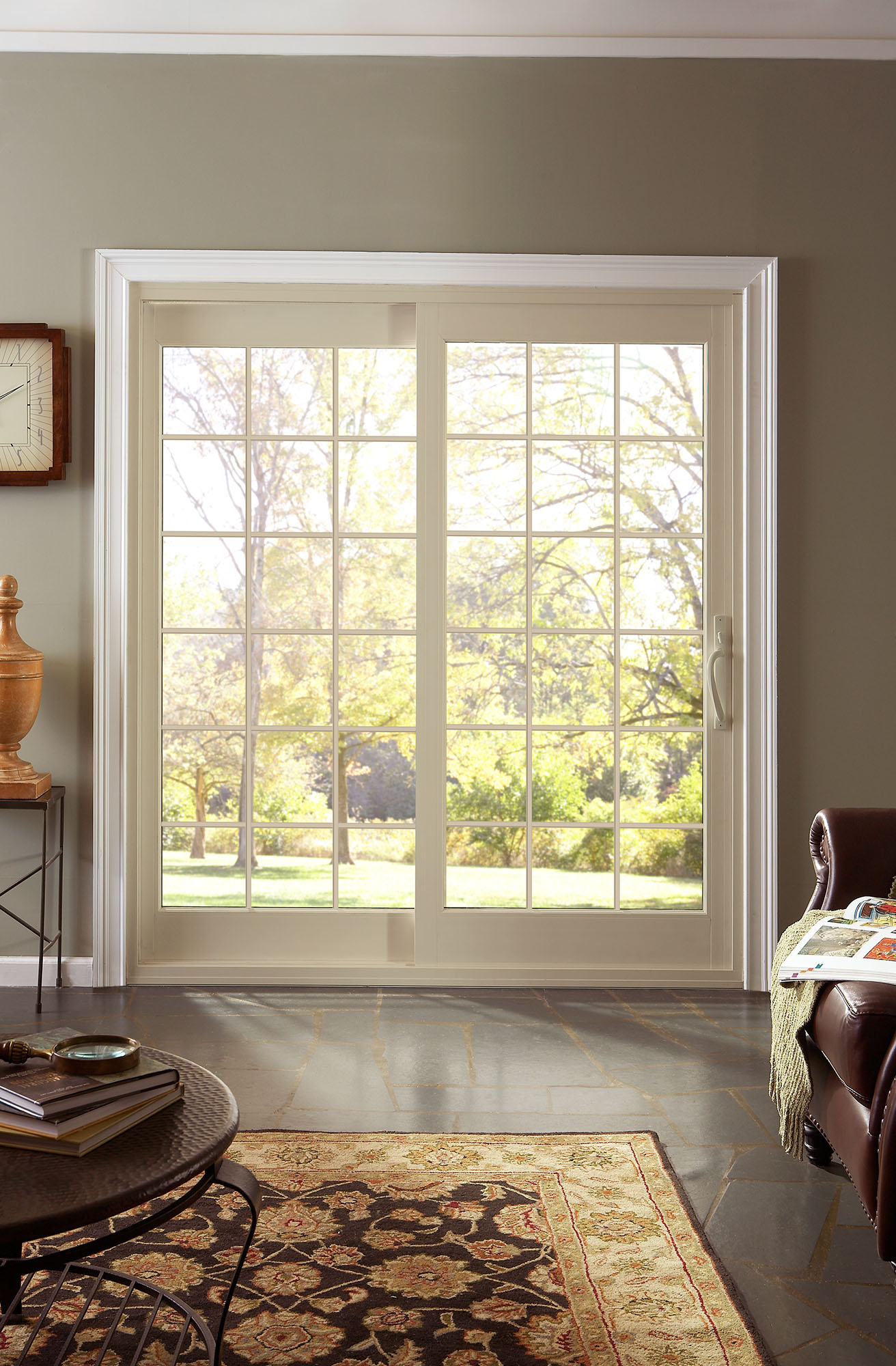 Alside offers the classic elegance of french style doors for Sliding glass door to french door