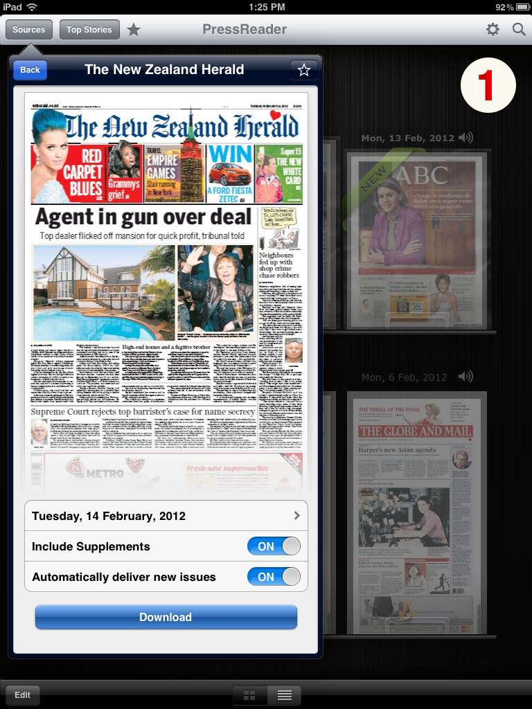 More than 2,000 full-content newspapers from 93 countries to the most popular smartphones and tablets.