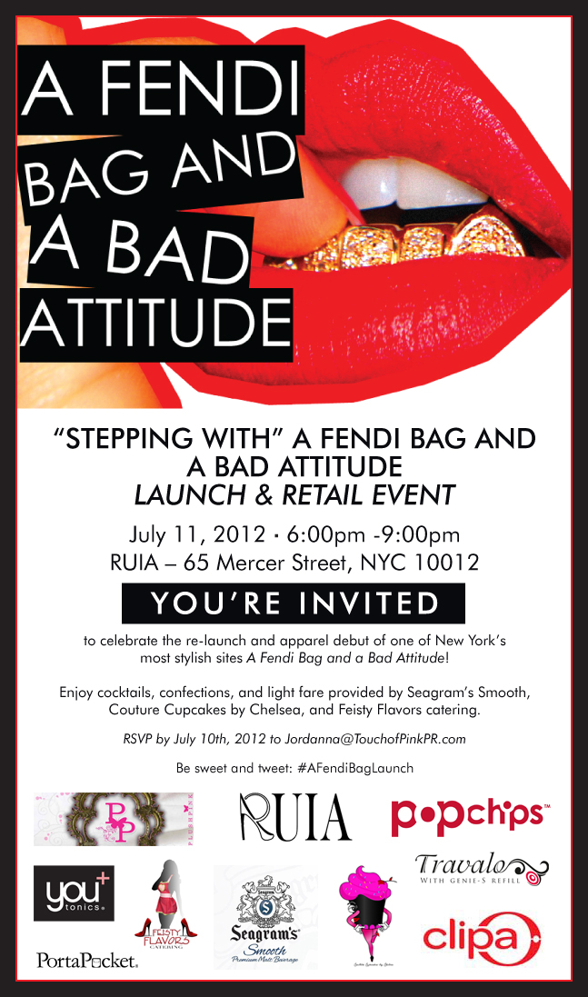 Stepping with A Fendi Bag & A Bad Attitude invitation