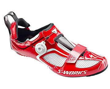 Specialized Trivent bike shoe featuring the Boa-powered heel drawbridge.