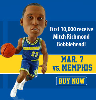 Mitch Richmond Bobblehead Night, presented by Esurance, is Wednesday, March 7.