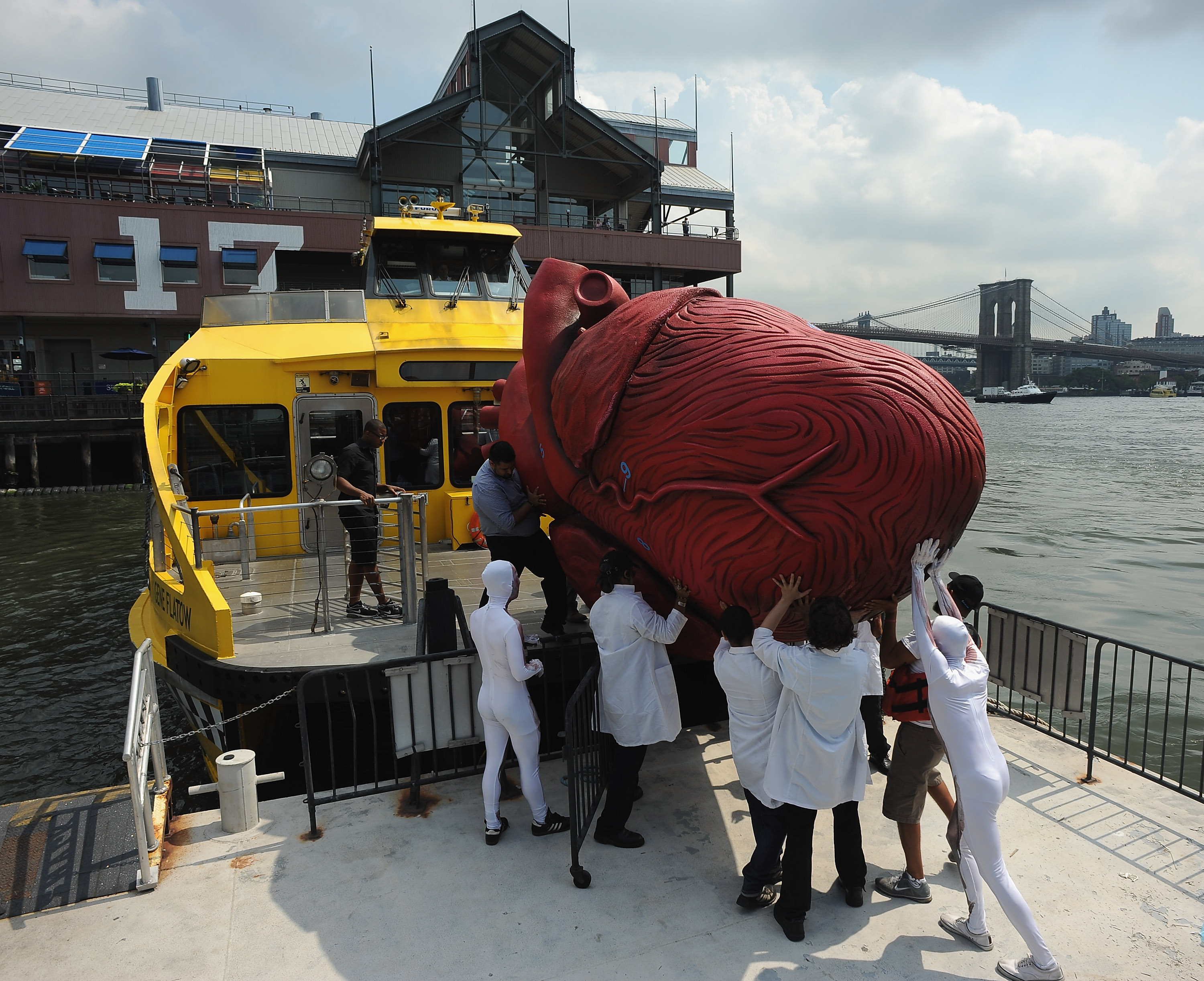 BODIES...The Exhibition Unloads Huge Heart at South Street Seaport