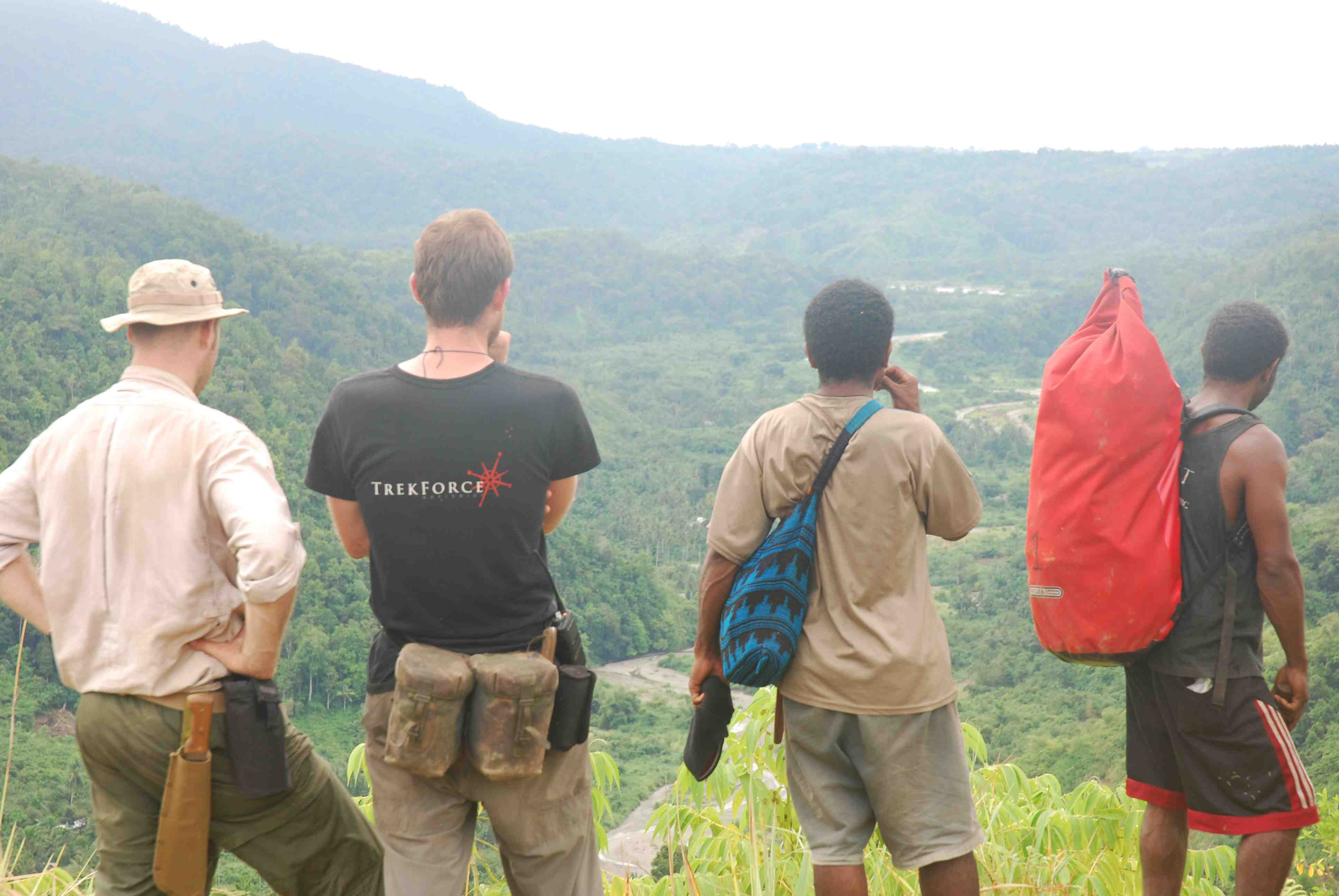 Surveying the land in Papua New Guinea. Photo credit: TrekForce