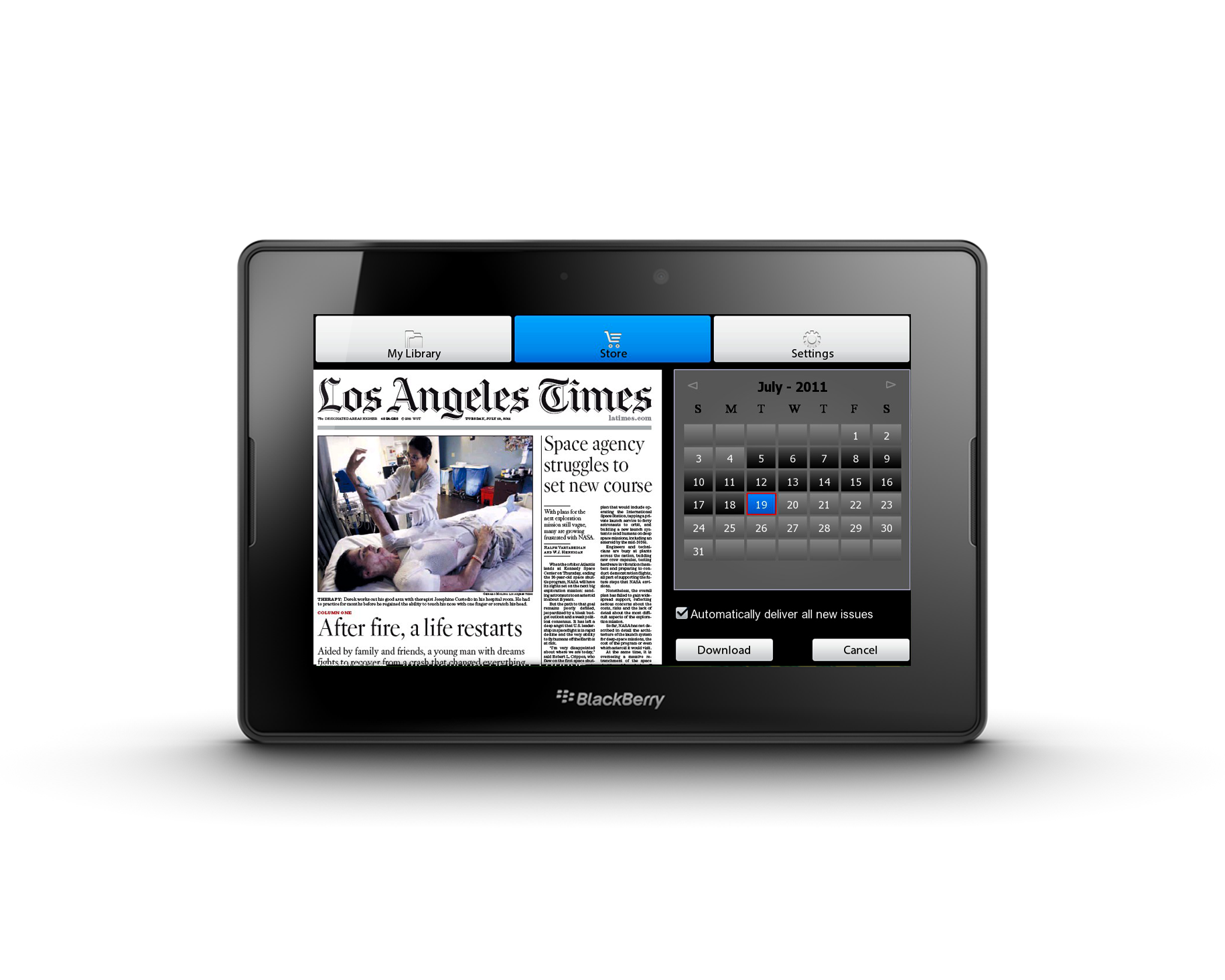 PressReader gives BlackBerry PlayBook users instant access to the largest selection of top news publications from around the world.