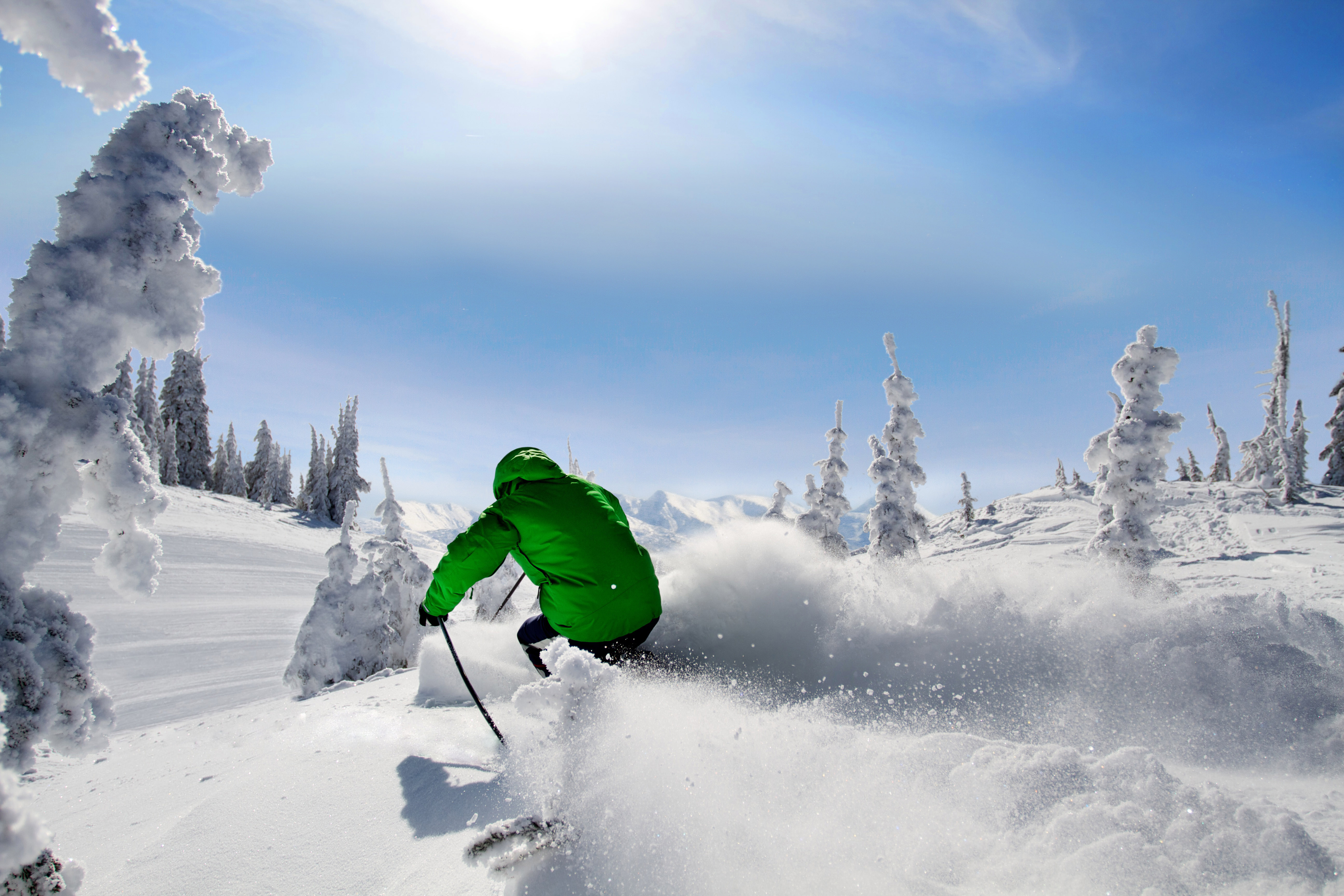 700 centimetres of light, dry powder blankets Silver Star's 3,065 acres of skiable terrain annually. Photo Credit: Silver Star Mountain Resort
