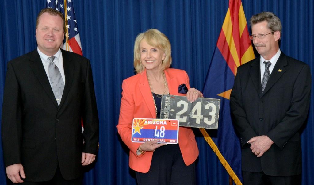 Picture Left to Right: ALPCA Arizona Chapter President, Clark Wothe; Governor Jan Brewer; and ALPCA President, Greg Gibson.