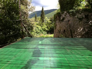 The outside yoga deck, Forani Gardens, Casperia