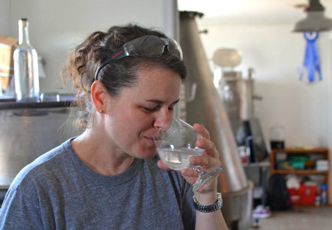 Dogfish Head's Alison Schrader has studied distilling at the world-class Siebel Institute of Technology.