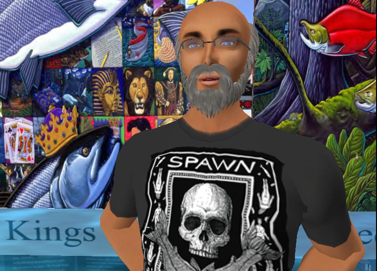 2011 Distinguished Artist Ray Troll made an appearance in Second Life with his custom-made avatar.