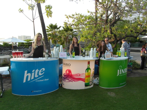 Hite Jinro Brand Models during the ICAOCT Tasting Event at the Hilton Hawaiian Village, Honolulu, Hawaii. 